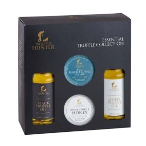 Essential Truffle Collection - Gift Set - 2 x 3.38 fl.oz. Black & White Truffle Oil, Truffle Sea Salt & White Truffle Honey