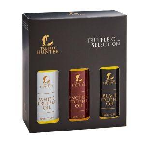 Black, White & English Truffle Oil Set (3 x 3.38 fl.oz.) - Marinading & Seasoning
