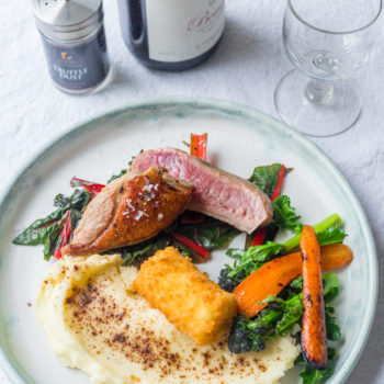Duck Breast With Truffle Dusted Mash