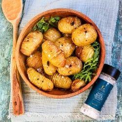 Hasselback New Potato with Truffle Salt