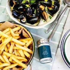 Mussels with Truffle Fries