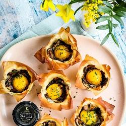 Baked Mushroom Truffle Egg Nest