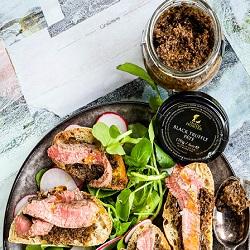 Steak Crostini with Black Truffle Pâté
