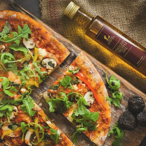 Pizza with English Truffle Oil